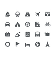 Traveling and transport icons vector | Price: 1 Credit (USD $1)