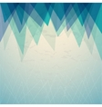 triangular blue background cover report brochure vector image vector image