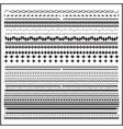Vintage line border set and design element vector image vector image