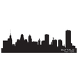 Buffalo New York Detailed city silhouette vector image
