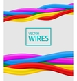 Abstract colorful curly wires Seamless vector image