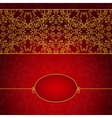Abstract gold and red invitation frame vector image vector image