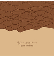 Abstract invitation card in chocolate theme vector image vector image