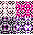 abstract repeating circle pattern background vector image vector image
