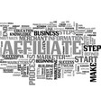 affiliate marketer defined text word cloud concept vector image vector image