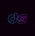 alphabet letter combination ds d s logo company vector image vector image