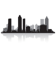 Atlanta USA city skyline silhouette