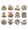 baseball ball bat player and trophy sport icons vector image vector image