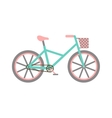 Bicycle with basket vector image vector image