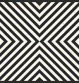 black and white crossing stripes seamless pattern vector image
