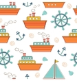 Boats and ships seamless pattern vector image