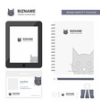 cat business logo tab app diary pvc employee card vector image vector image