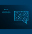 chat low poly message polygon icon on blue vector image