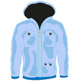 cloth hooded jacket vector image vector image