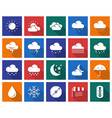 collection of square icons weather vector image vector image
