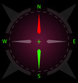 compass display compass with illumination vector image