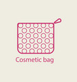 cosmetic bag thin line icon vector image vector image