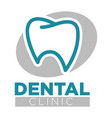 dental clinic dentistry medicine tooth isolated vector image