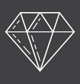 diamond line icon business and finance gem sign