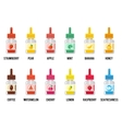 E-liquid flavors Vaping juice or vape signs vector image