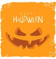 evil halloween pumpkins vector image vector image