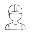 figure profesional man worker with cap and clothes vector image