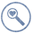 find love rounded fabric textured icon vector image