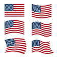 Flag of USA Set of flags of America in various vector image vector image