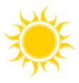 flat sun icon symbol vector image vector image