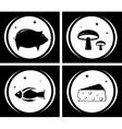 food black icons set vector image vector image