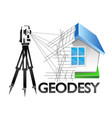 geodesy symbol for surveyor vector image vector image
