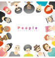 group happy multi ethnic people vector image vector image