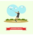 Hammer throw sportsman Track and field athletics vector image