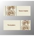 Horizontal banner template with flowers vector image vector image