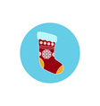 Icon Christmas Colorful Sock vector image