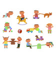 infographic elements children play vector image vector image