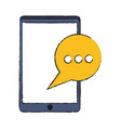 instant message conversation icon image vector image