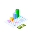 isometric infographic consult and administration vector image vector image