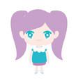 kids cute little girl anime cartoon character vector image vector image