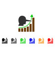 lier hyip chart icon vector image vector image