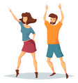 man and woman dancing at music club or disco vector image vector image