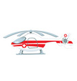 medical helicopter turned off and parked vector image vector image