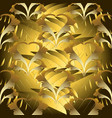 modern abstract floral 3d seamless pattern vector image vector image
