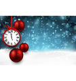 New year background with red christmas balls vector image vector image
