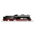 Old steam locomotive vector image vector image