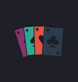 Poker Cards computer symbol vector image