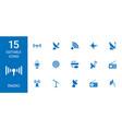 radio icons vector image vector image