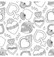 sacred heart seamless pattern vector image