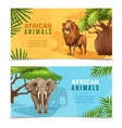 safari animals horizontal banners vector image
