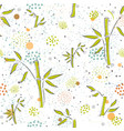 seamless pattern with hand drawn bamboo vector image